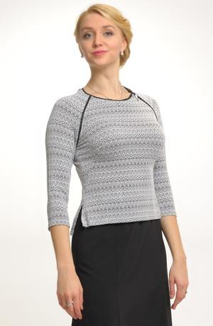 Pleteninový svetřík na zip