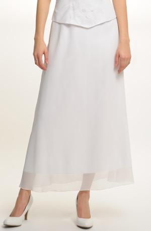 Bílá svatební sukně