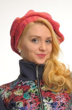 Pletený baret