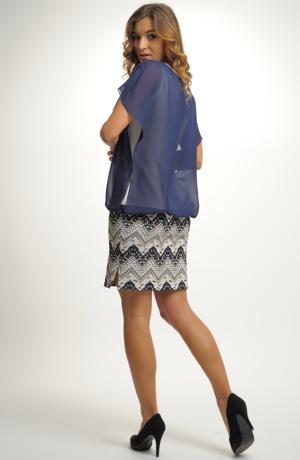 Společenské krátké pouzdrové šaty