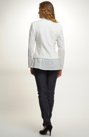 Pleteninový smetanový kabátek na zip