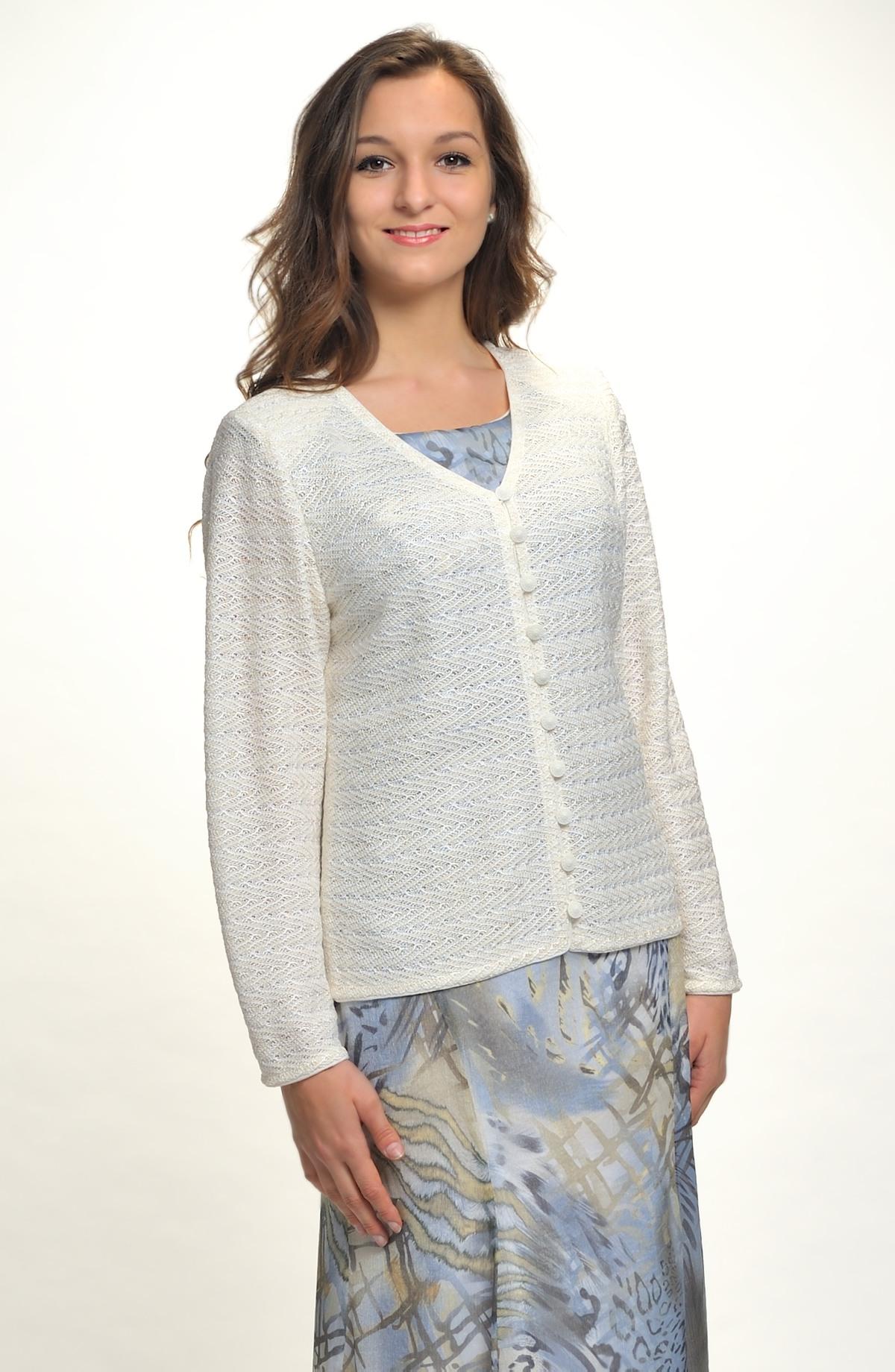 Pletený krajkový svetr - kabátek