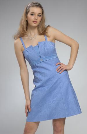 Princesové dívčí šaty s efektním plastickým vzorem.