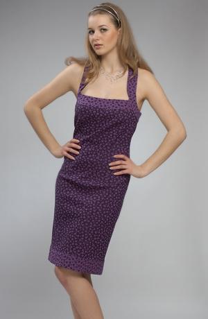 Společenské šaty na raminka za krk