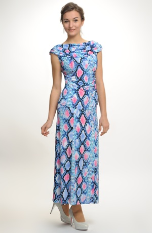 Letní sukně se potiskem hadí kůže