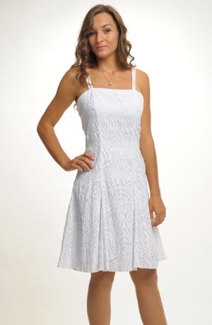 Dívčí šaty na ramínka vhodné na svatbu i do tanečních