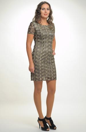 Elegantní dámské poudzdrové koktejlové šaty z krajky, vel. 44, 46, 48, 50,