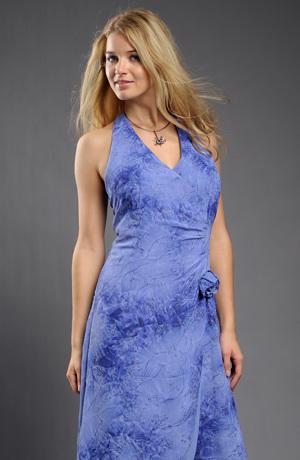 Dlouhé společenské šaty s řasením na boku