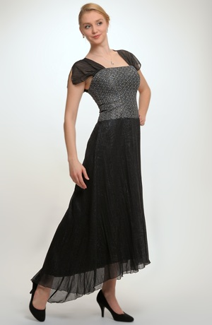 Luxusní dlouhé dívčí šaty vhodné na ples, do tanečních, na maturiťák, na prodlouženou, vel.36