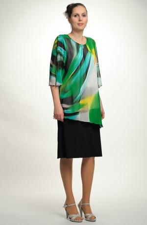 Luxusní dámská tunika pro plnoštíhlé