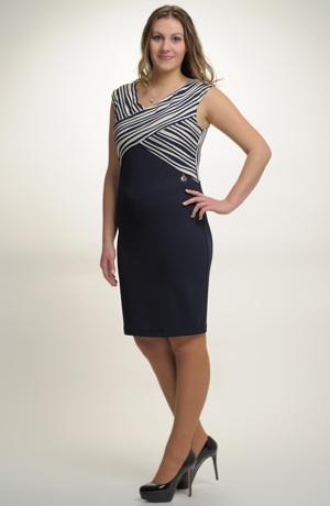 Pouzdrové šaty s děleným sedlem. Vel. 42, 44