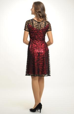 Krátké elegantní šaty vhodné na ples i do tanečních. Velikost 38, 40