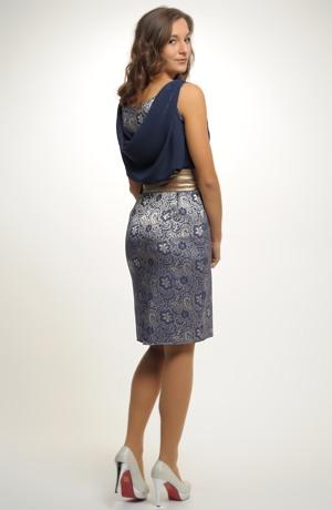 Luxusní společenské koktejlové šaty s vodou na zádech. 36, 38, 40, 42, / S, M, L, XL
