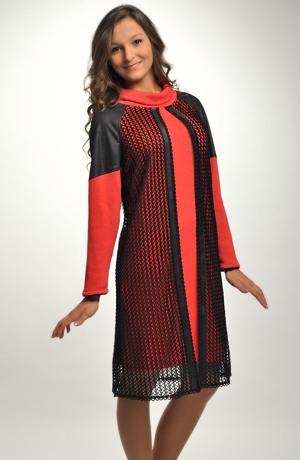 Pletené pouzdrové šaty vhodné do práce i do společnosti
