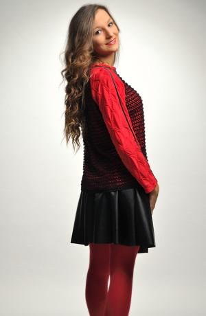 Mladistvá červená halenka - mikina