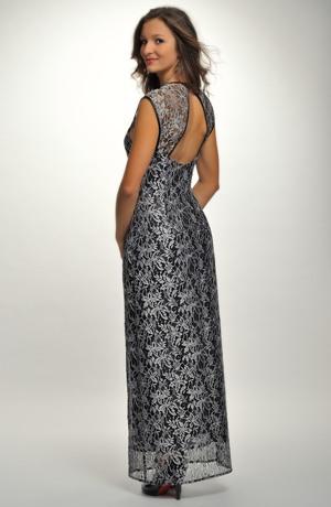Luxusní plesové dlouhé šaty z krajky
