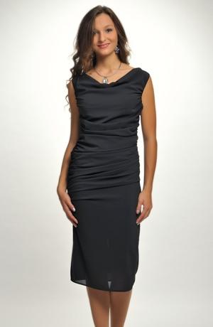Elegantní dámské malé černé koktejlové šaty na ples z elastické tkaniny, vel.36, 38, 40, 42,