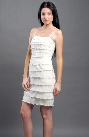 Krátké dívčí společenské nebo svatební šaty