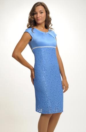 Dámské šaty pouzdrovky - společenské šaty pouzdrového střihu. Vel. 40.