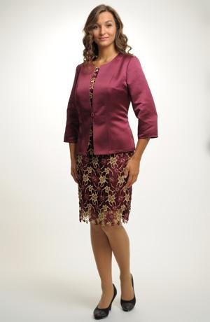 Sako dámské v módní barvě sicilského vína marsala