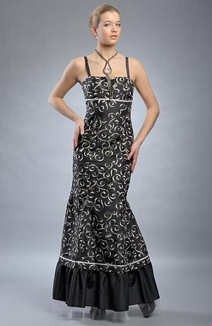 Exkluzivní dlouhé plesové šaty - SLEVA