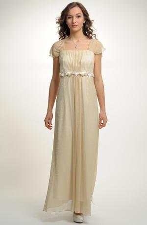 Antické svatební šaty pro plnoštíhlé postavy s řasením a krajkovou portou s korunkami, vel. 52