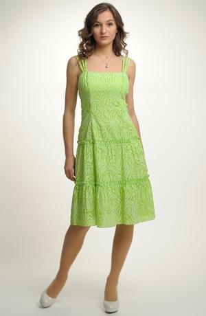 Dívčí krátké šaty v jasně zelené