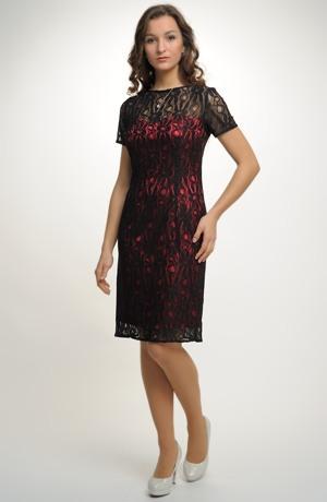 Luxusní společenské a koktejlové šaty krajky
