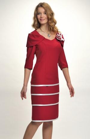 Elegantní pouzdrové, šaty do společenosti i na svatbu pro plnoštíhlé, vel.44, 46, 48...