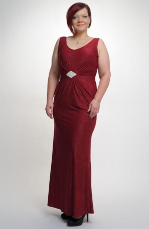 Dámské dlouhé společenské šaty na široká raminka vhodné i na ples.