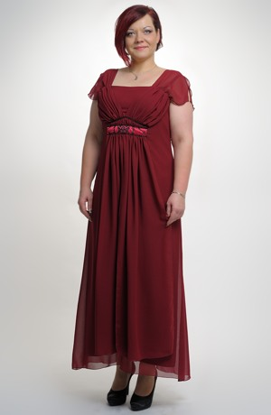 Dlouhé společenské šaty i na ples pro plnoštíhlé postavy, XL, XXL, XXXL,.. , vel.42 - 52
