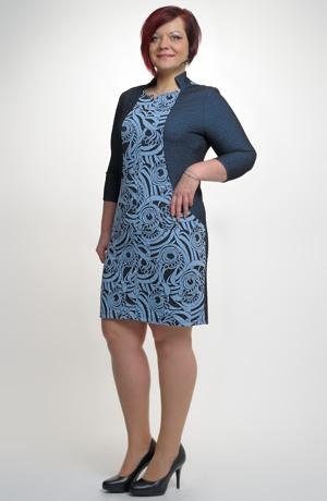 Elegantní šaty pro plnoštíhlé vhodné do práce - zeštíhlující střih