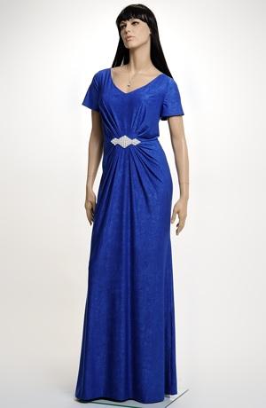 Dlouhé plesové, společenské, večerní šaty s perličkovou ozdobou, vel. 44 až 50