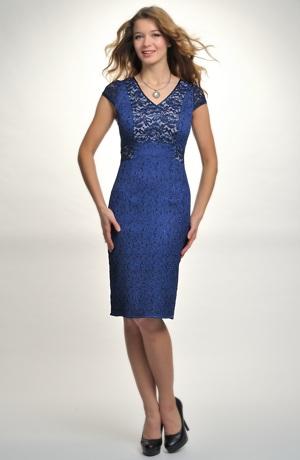 Elegantní dámské šaty s krajkou