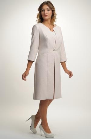 Dámský komplet - pouzdrové šaty s kabátkem