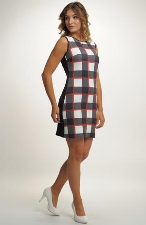 Letní šaty nebo šatovka s velkým kárem