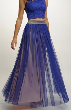 Tylová sukně bez podšívky
