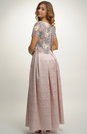 Svatební a společenský top s dlouhou skládanou sukní