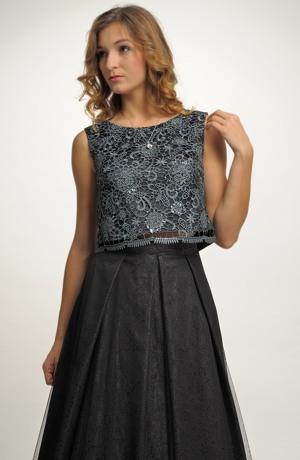 Šifónová sukně s krajkovým topem