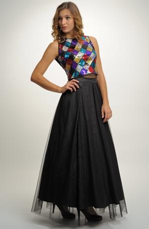 Plesovky - bohatá skládaná sukně s topem