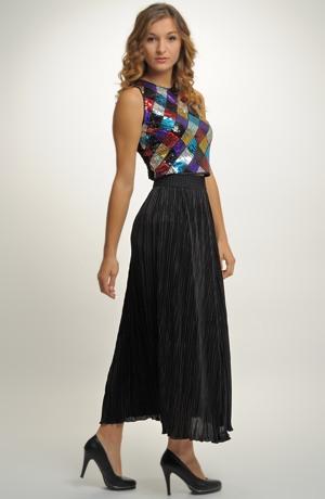 Sukně plisovaná s ozdobnou vysokou gumou v pase