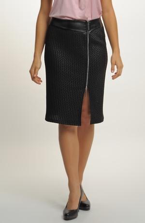 Sukně pletená žebrová s potiskem