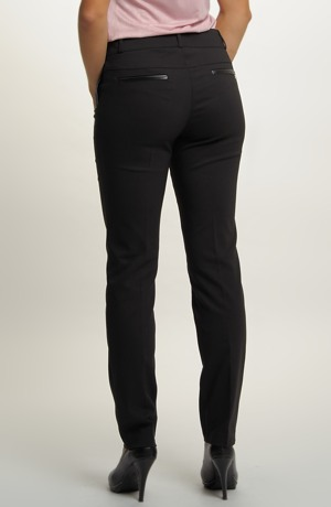 Černé úzké uni kalhoty