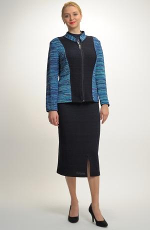 Exkluzivní mladistvý kabátek z italské pleteniny