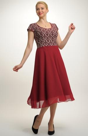 Šifónové šaty ve velikosti 44, 46, 48, 50... / XL, XXL, XXXL