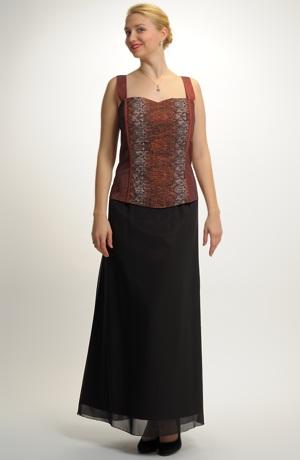 Luxusní dlouhý večerní komplet -korzet a sukně vel. 54
