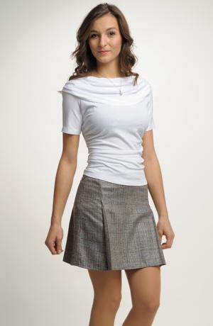 Vzdušná letní sukně se vzorem jemného kára