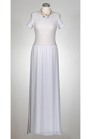 Svatební šaty s živůtkem z jemné vikózové pleteniny - výprodej