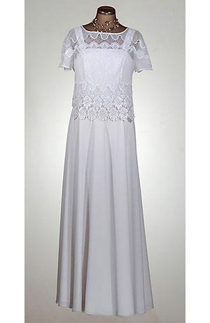 Bolerko z viskózové krajky lze doplnit různými typy šatů.