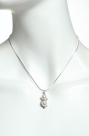 Náhrdelník perličky na rhodiu